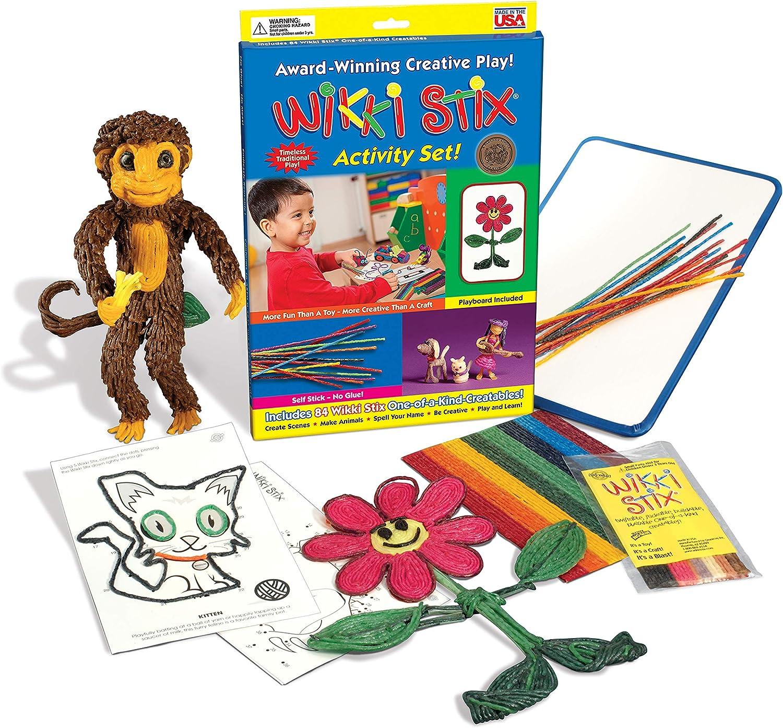 Wikki Stix Arc-en-Ciel Paquet Enfants sans Dégâts Voyage Ciré Flexible Craft