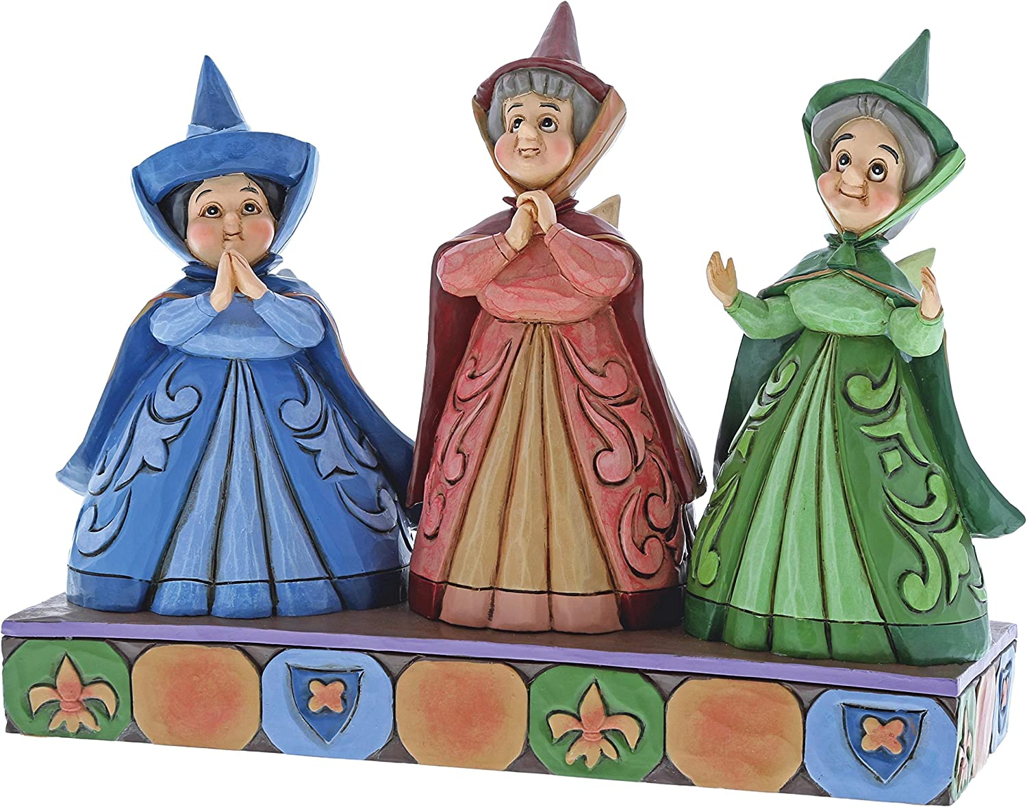 Enesco Disney Traditions by Jim Shore Three Fairies Stone Resin Figurine, Multicolor