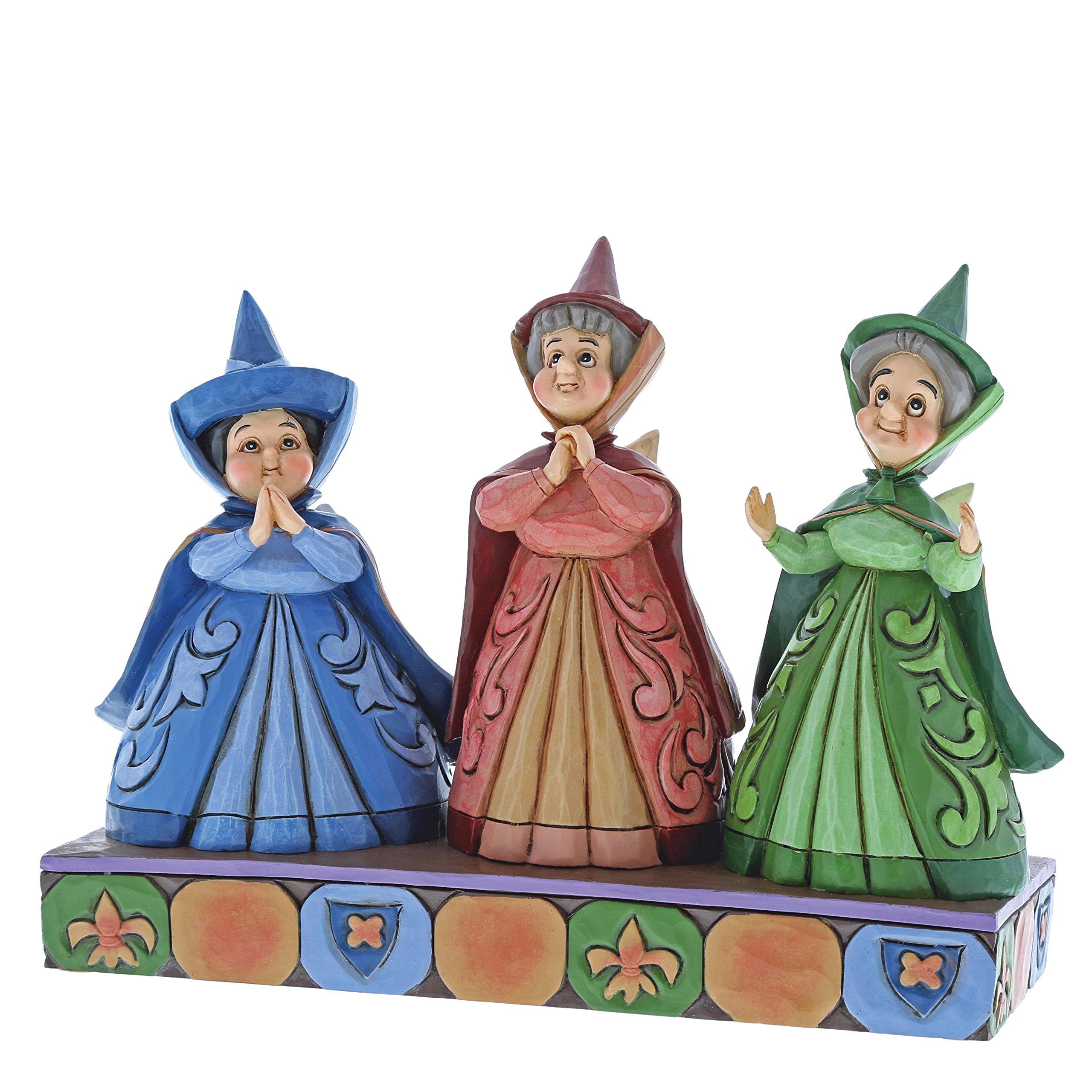 Disney Traditions 4059734 Royal Guests Three Fairies Figurine, Resin, Multi-Colour, 6 x 15 x 7 cm