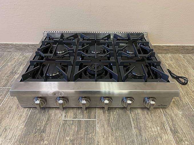Amazon.com: Thor Kitchen HRT3618U - Juego de 6 quemadores de ...