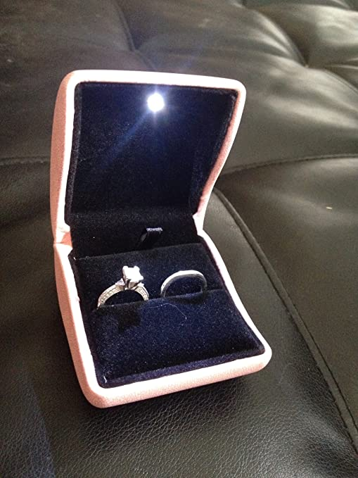 Amazoncom New 2 Double Dual Ring Box Wedding Engagement Set or