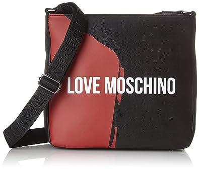 Love Borsa RossoSacs Ordinateur Moschino Pour Nero Pu Saffiano sQxthCdr