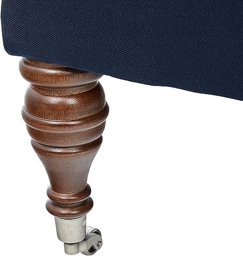 Amazon Brand Stone Beam Elmore Pillow-Top Armless Chair, 24 W, Indigo