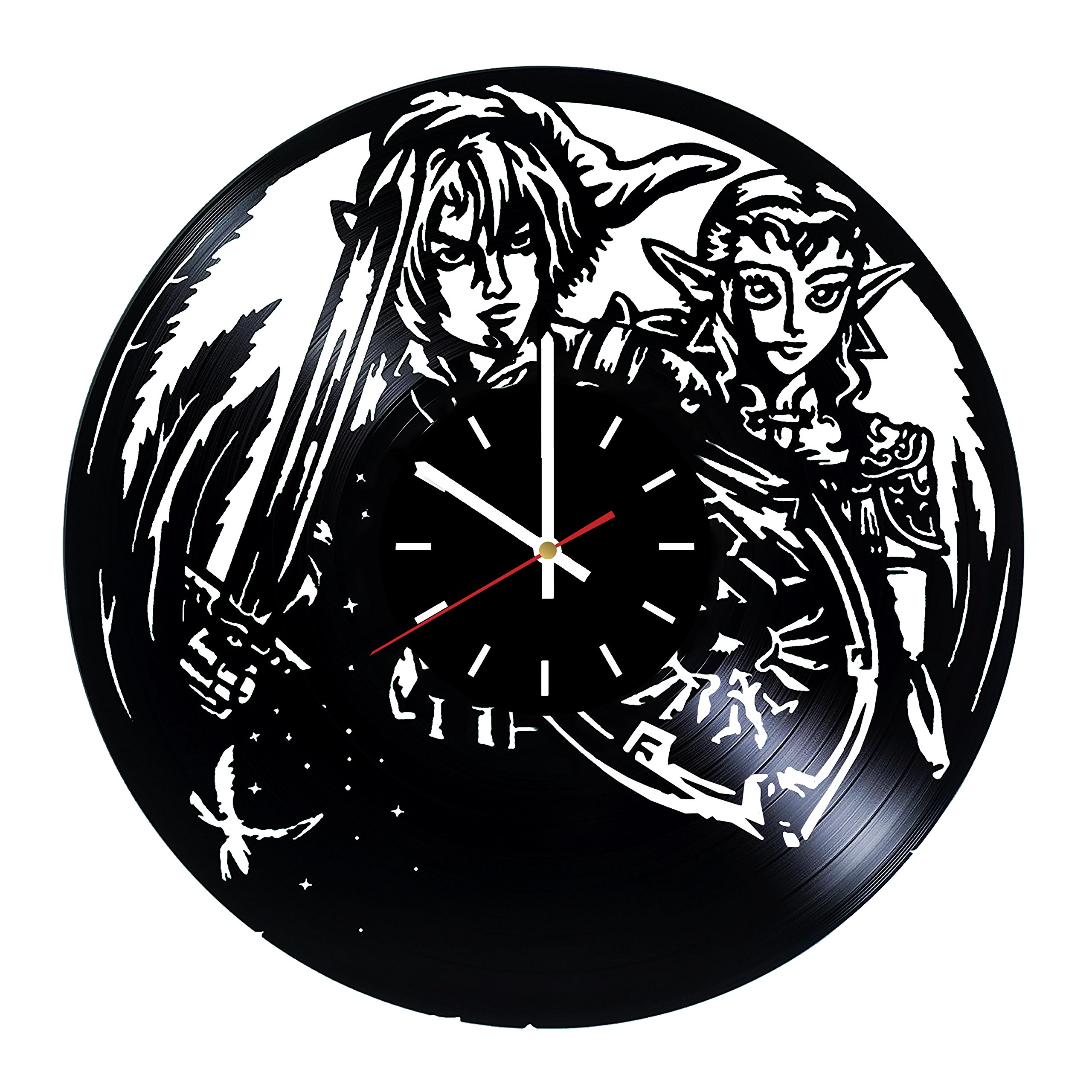 choma Zelda Video Game Vinyl Record Wall Clock - Kids Room Wall Decor - Gift Ideas for Friends, Brother and Sister - Unique Art Design