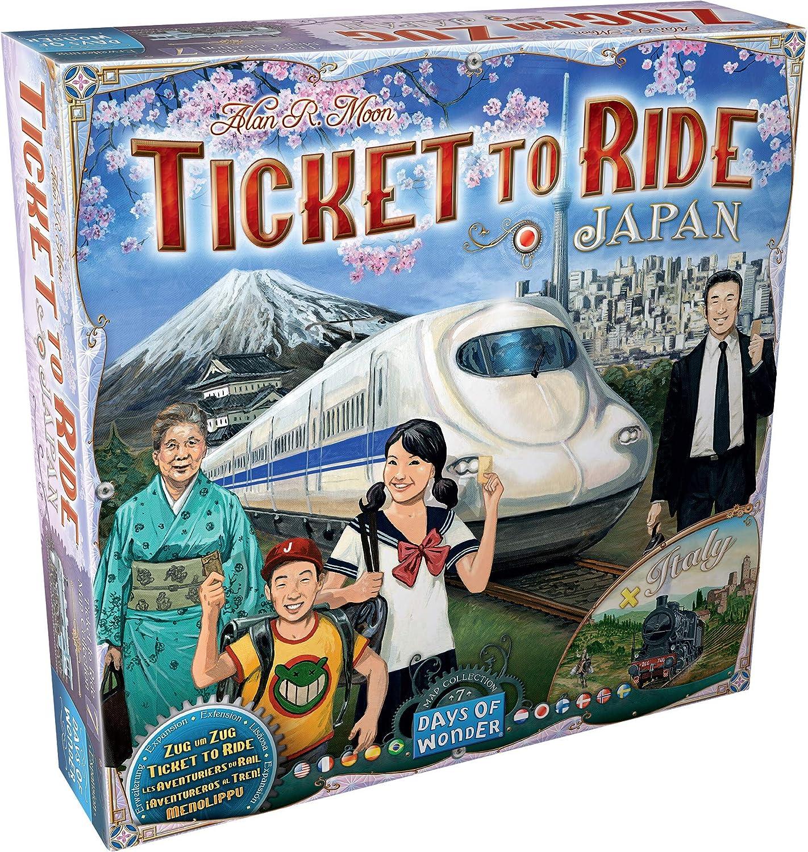 Days of Wonder-¡Aventureros al Tren Italia & Japón-Varios Idiomas-ES/NL/EN/DE/SE/NO/DK/PT/FI/JP (DOW720132) , color/modelo surtido: Amazon.es: Juguetes y juegos