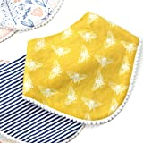 Matimati Baby Bandana Bibs for Girls with
