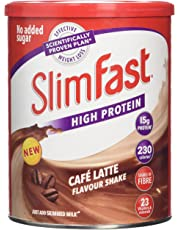 SlimFast High Protein Meal Replacement Diet Supplement, Cafe Latte, 12 Servings