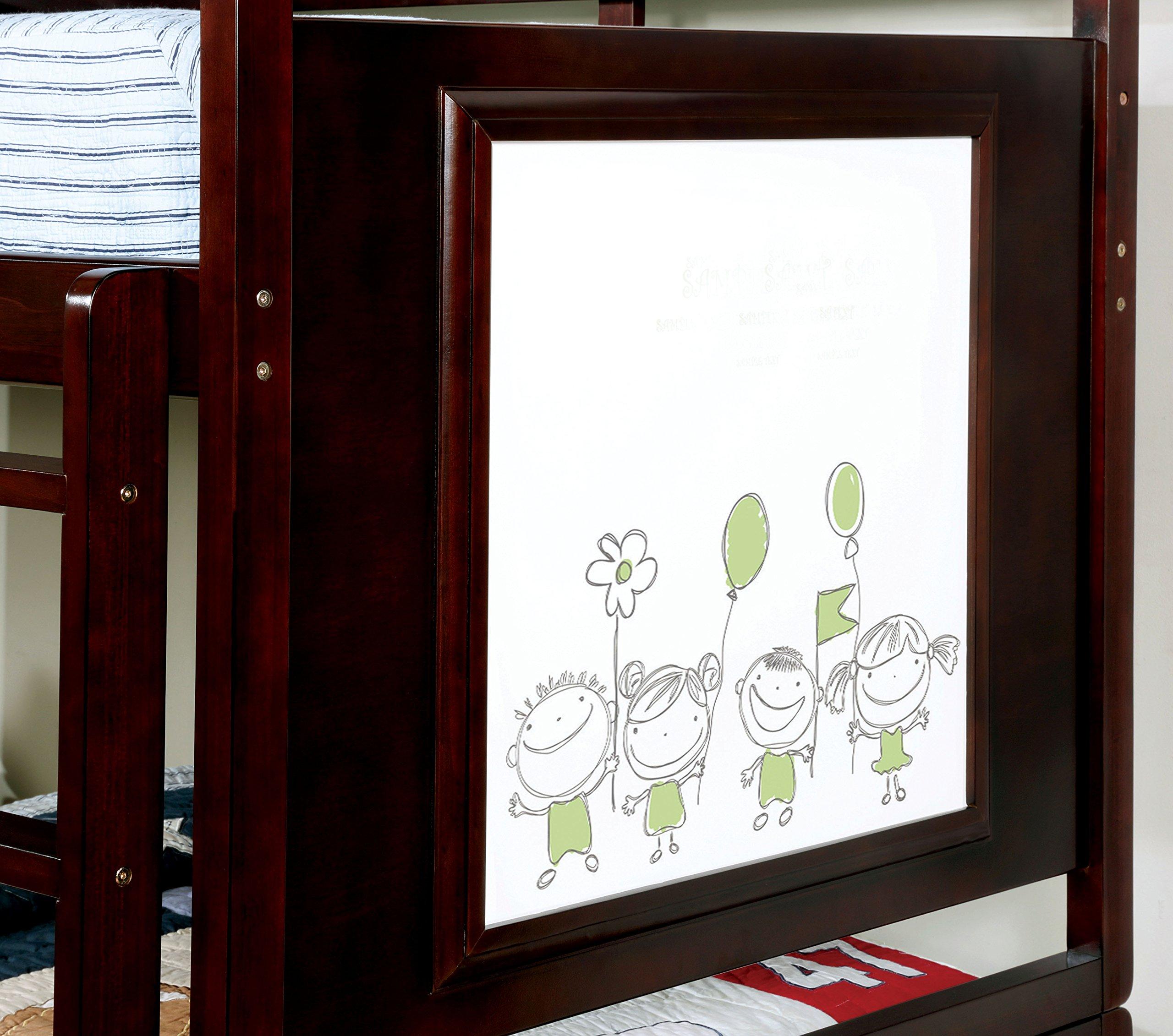 HOMES: Inside + Out IDF-BK901EX Indio Bunk Bed Childrens Frames, Twin / Twin, Dark Walnut