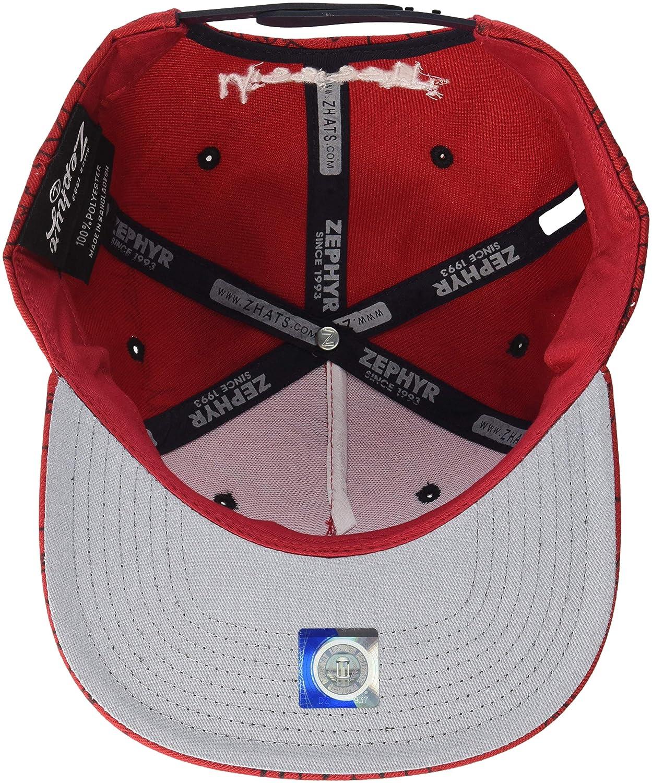 Adjustable Zephyr Mens Manic Snapback Hat Red