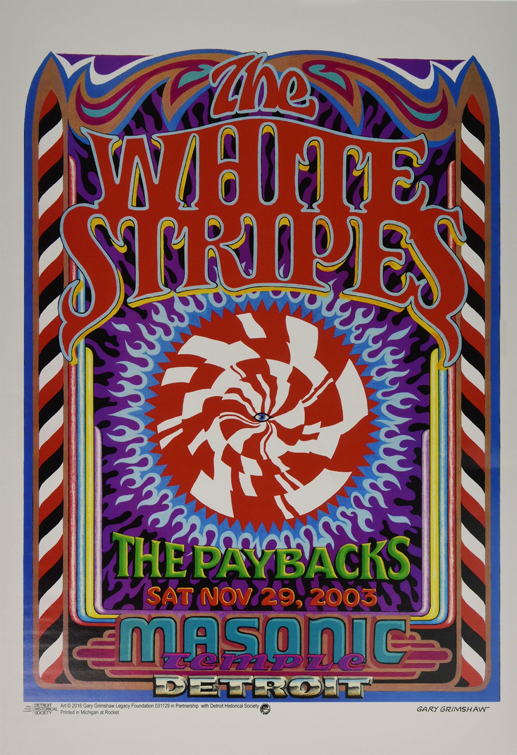 The White Stripes @ Masonic Temple, Detroit Grimshaw Posters