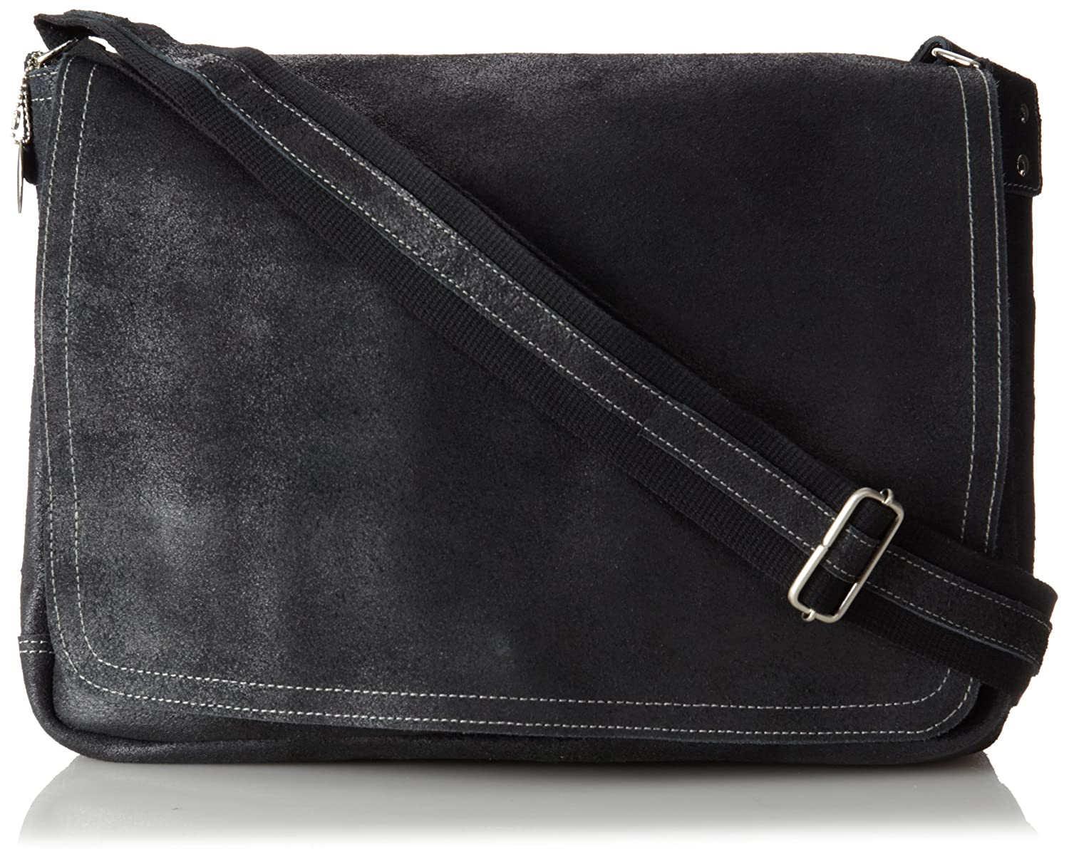 a95adf893c94 durable modeling David King & Co. Leather Full Flap Laptop Messenger ...
