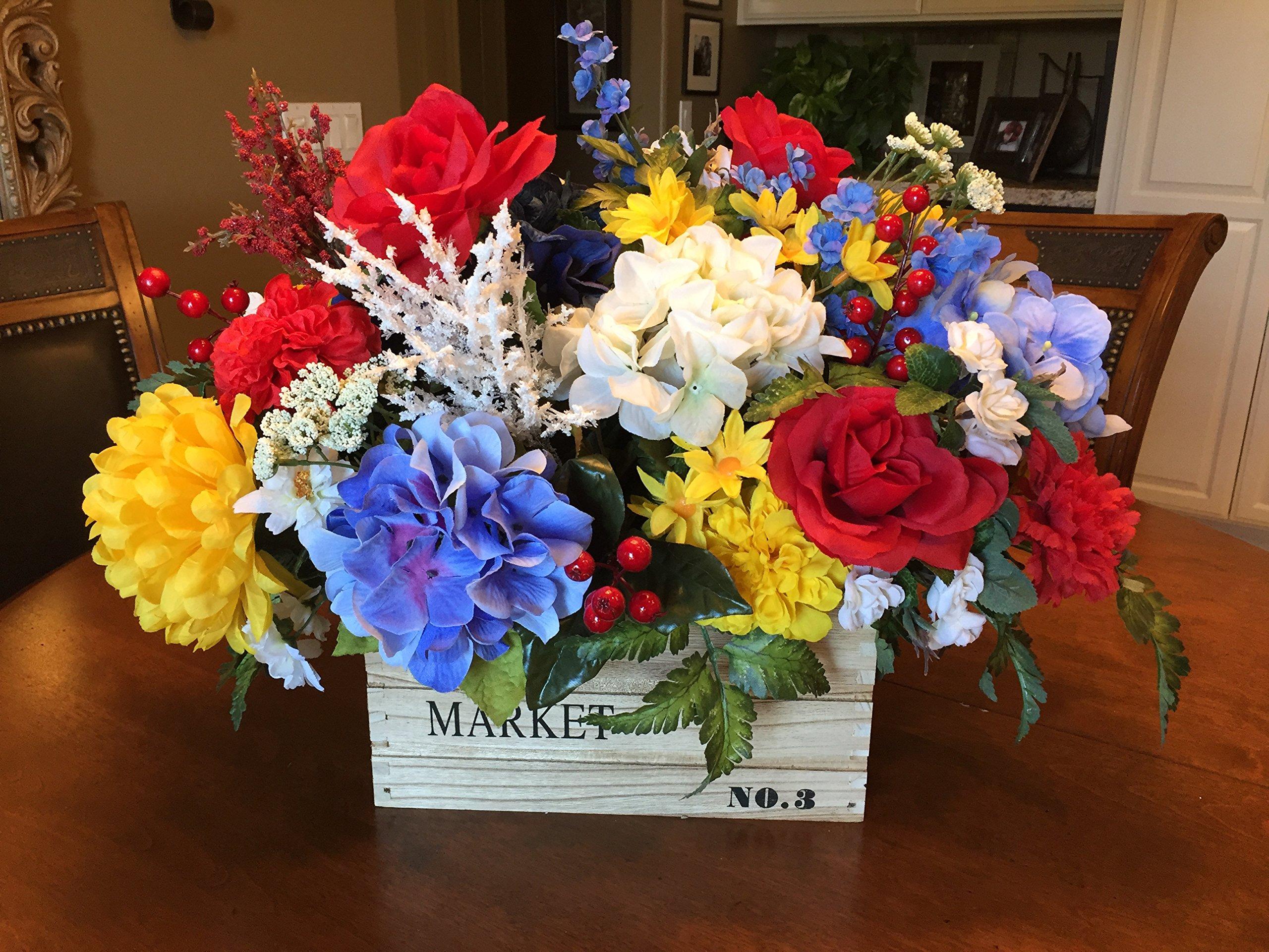 Spring Floral Centerpiece, Cottage Floral Arrangement, Garden Party Floral Design, Elegant Floral Arrangement, Home Floral Design, Gift for Her