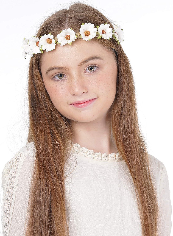 Women Lady Girl Braided Bohemian Retro Boho Flower Beach hair band headband PROP