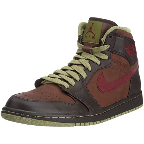 Nike - Scarpe Classic Uomo - Air Jordan 1 Retro - Marrone Nero Cachi Rosso 78007a551ae5