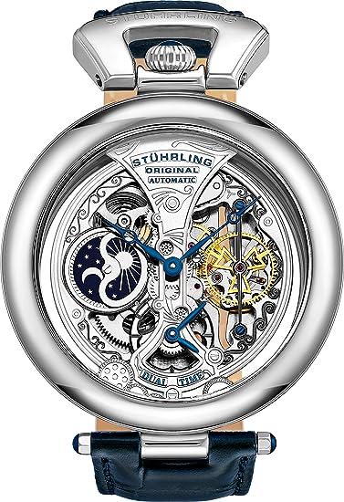 Stührling Original 127A.3315C2 - Reloj analógico para Hombre, Correa de Cuero, Color Plateado: Stuhrling Original: Amazon.es: Relojes
