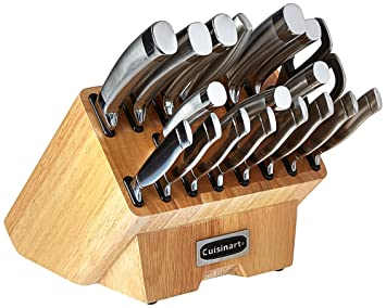 Cuisinart C77SS 19P Normandy 19 Piece Cutlery Block Set, Stainless Steel