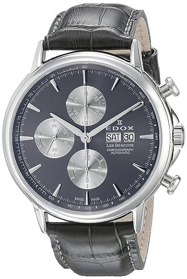 Edox Les Bémonts reloj hombre cronógrafo automática 01120 3 GIN