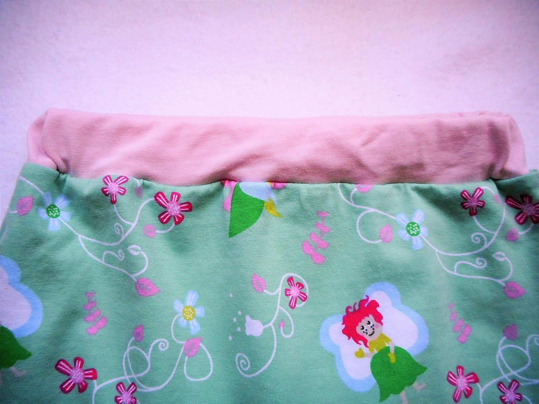 446c92c7b891d Sarouel Bébé Fille 12 Mois Fées Vert Menthe Jersey Coton Biologique  Pantalon Bébé Fille  Amazon.fr  Handmade
