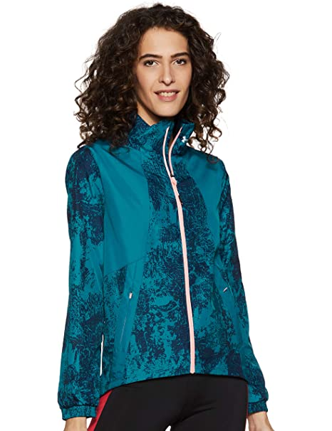 Under Armour Intl Printed Run Chaqueta, Mujer