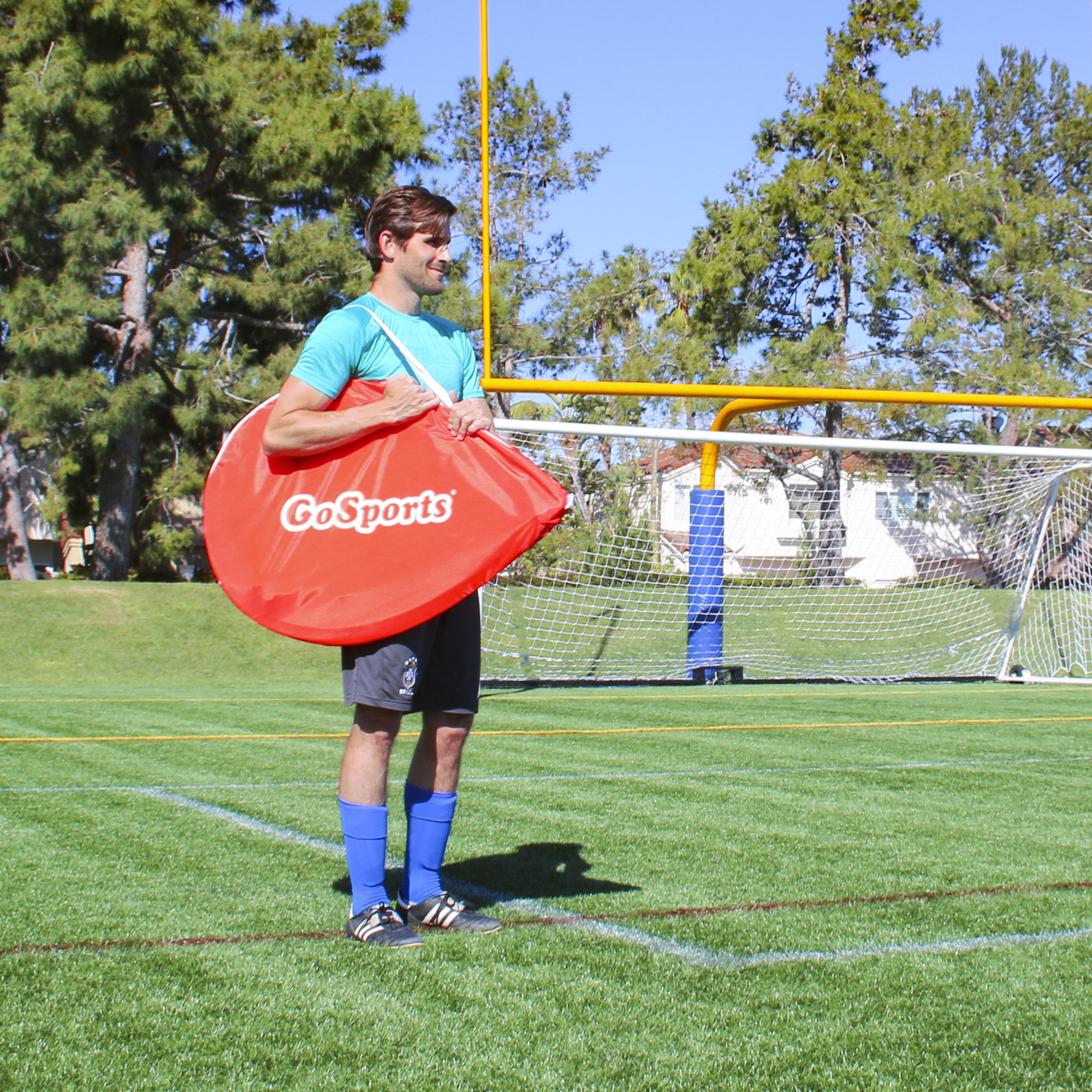 GoSports Portable Pop-Up Soccer Goal (Set of 2), Red/White, 4' by GoSports (Image #6)