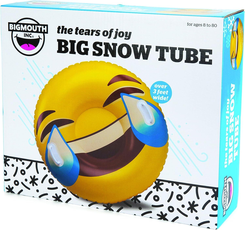 GIANT SMILEY JOY EMOJI Inflatable Snow Tube Winter Sled Ride Pool Float BigMouth