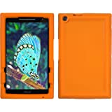 Bobj for ASUS ZenPad Z380, P022 (Z380C, Z380CX, Z380KL, Z380M, P00A, P024) - BobjGear Protective Tablet Cover (Outrageous Orange)