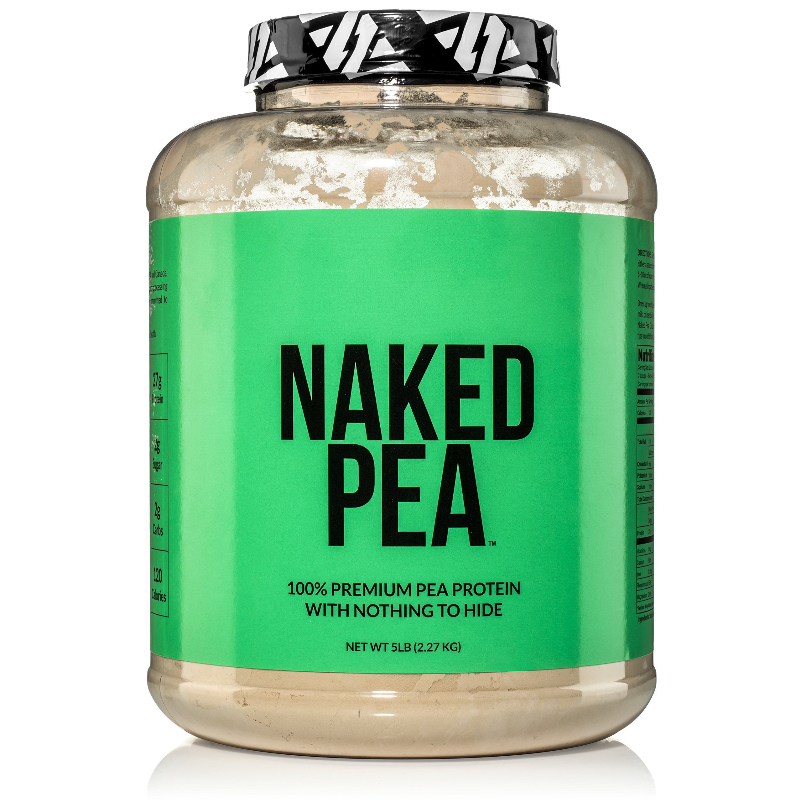 5LB 100% Pea Protein Powder from North American Farms - Vegan Pea Protein Isolate - Plant Protein Powder, Easy to Digest - Speeds Muscle Recovery by NAKED nutrition