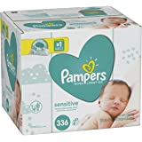 Pampers Baby Wipes Sensitive 6X Pop-Top, 336 Count