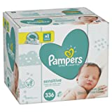 Amazon Price History for:Pampers Baby Wipes Sensitive 6X Pop-Top Packs, 336 Count
