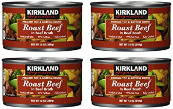 Kirkland Signature Roast Beef NET WT 12 oz (pack of 4)