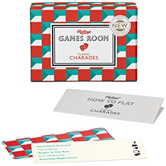 Ridley's Games Classic Charades Second Edition Quiz Card Guessing Game for  Kids and Adults