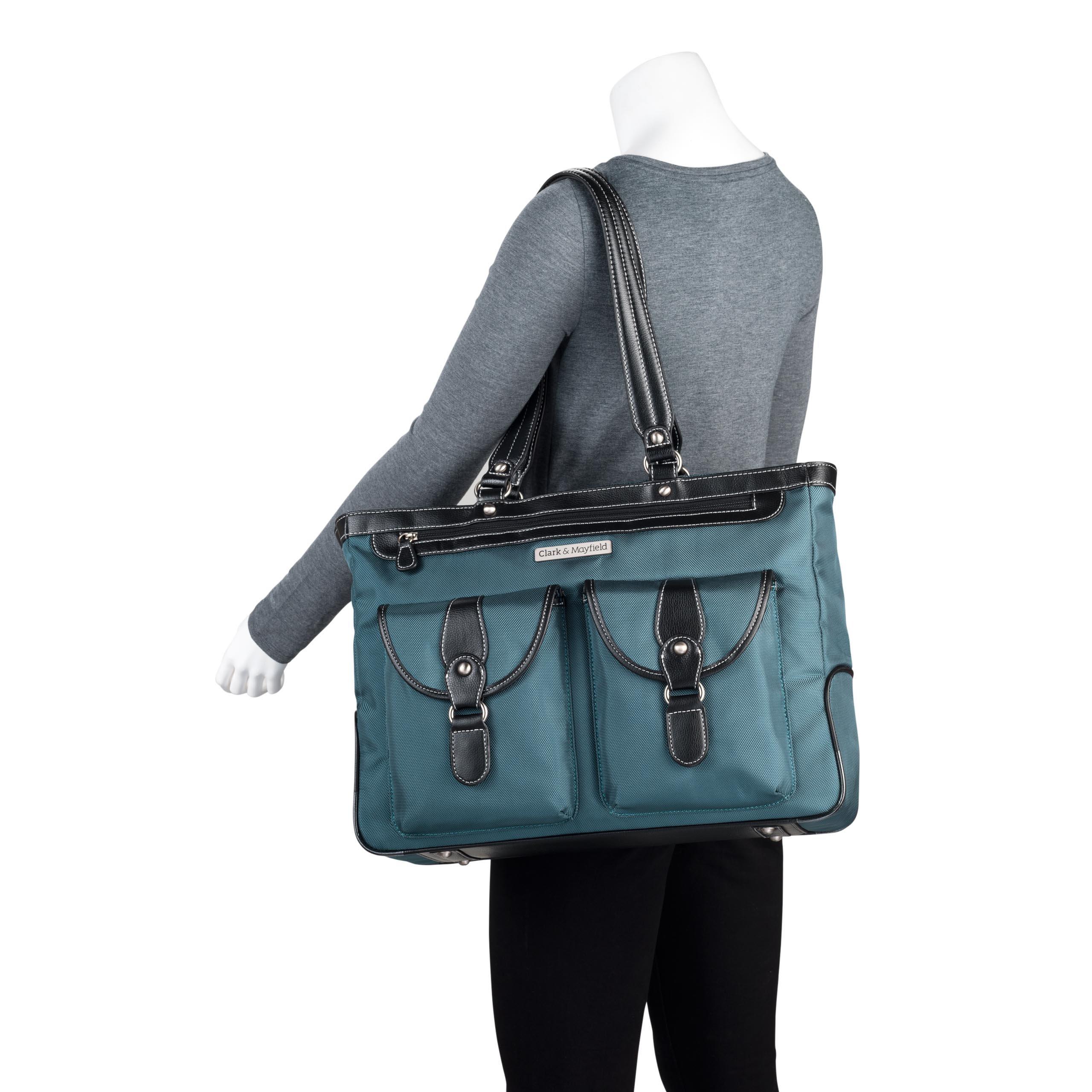 Clark & Mayfield Marquam Laptop Handbag 18.4'' (Deep Teal) by Clark & Mayfield (Image #4)