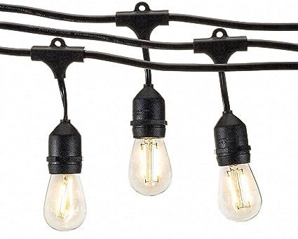 Amazon deneve outdoor string lights 48ft with led bulbs deneve outdoor string lights 48ft with led bulbs heavy duty garden hanging market aloadofball Images