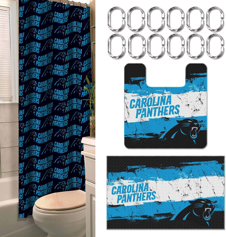 Amazon Com Northwest Nfl Carolina Panthers 15 Piece Bath Set Sports Outdoors