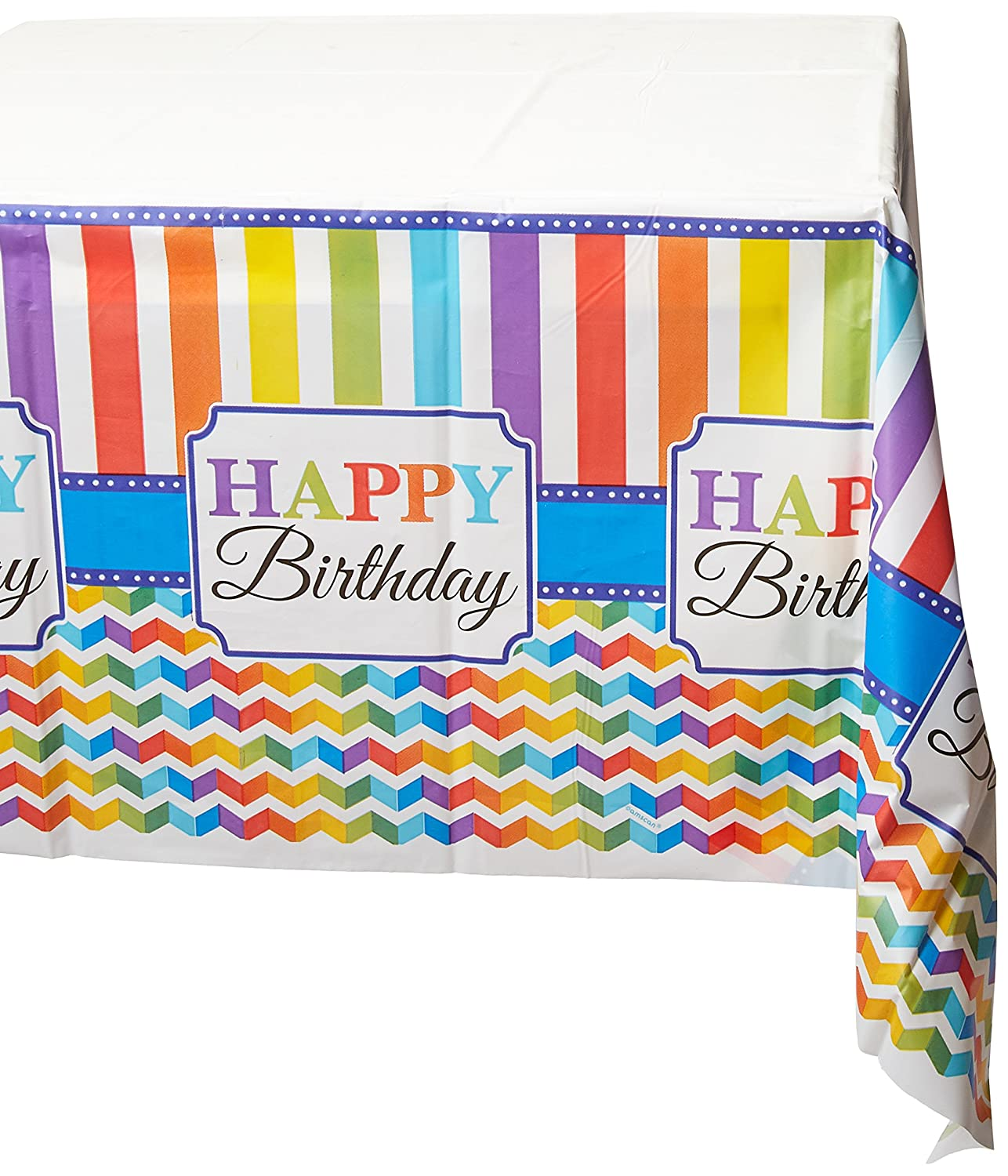 Plastic Table Cover | Multi color Collection | Birthday | 6 Ct.