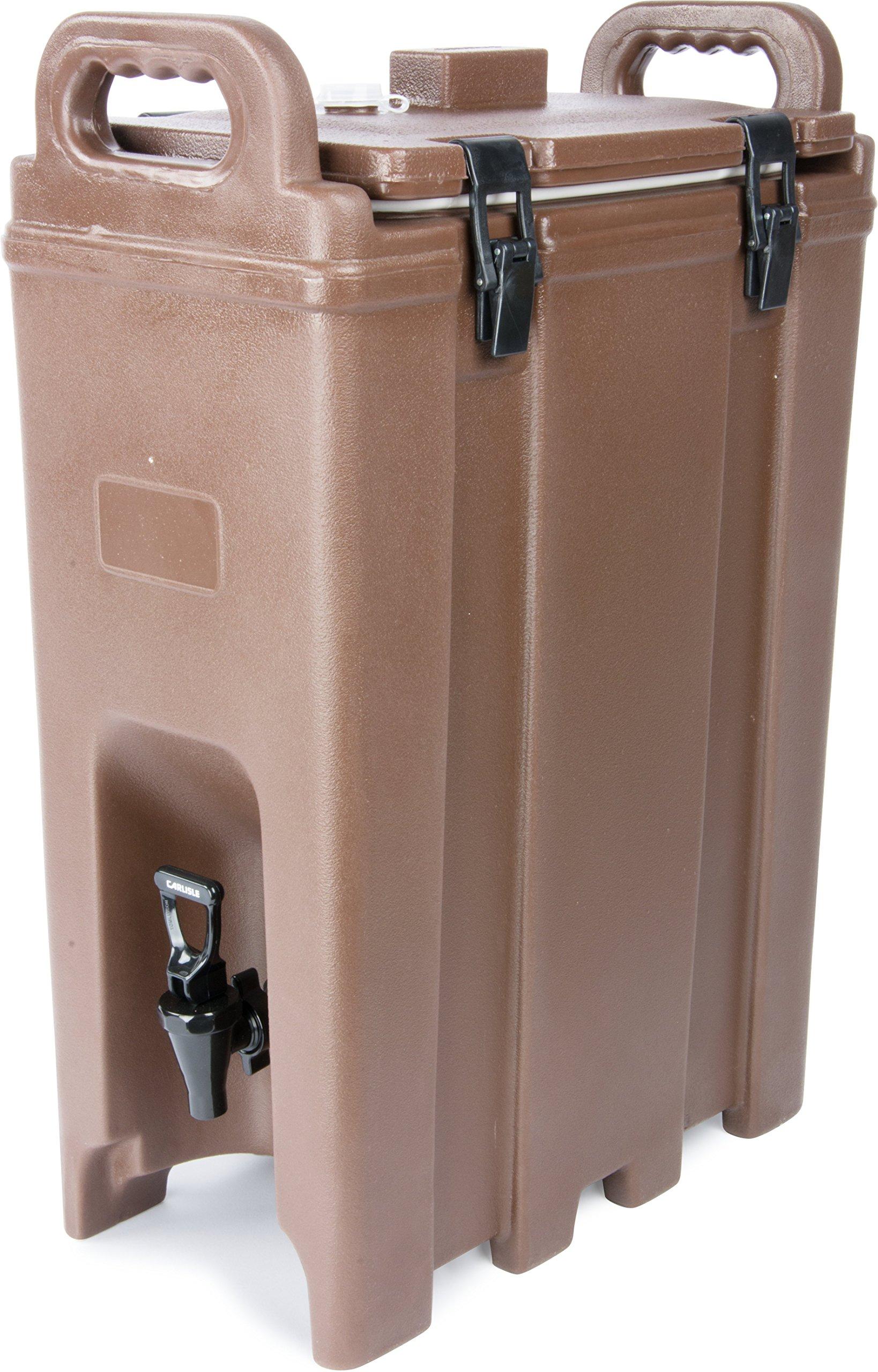 Carlisle LD500N01 Cateraide Polyethylene Insulated Beverage Server, 5 gal. Capacity, 16-3/8'' L x 9'' W x 24.20'' H, Brown