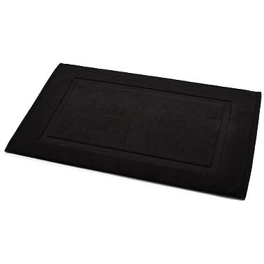AmazonBasics Banded Bath Mat, Black