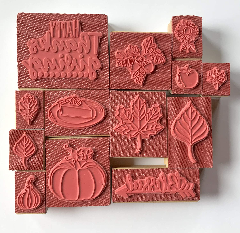 Thanksgiving Rubber Stamp Set