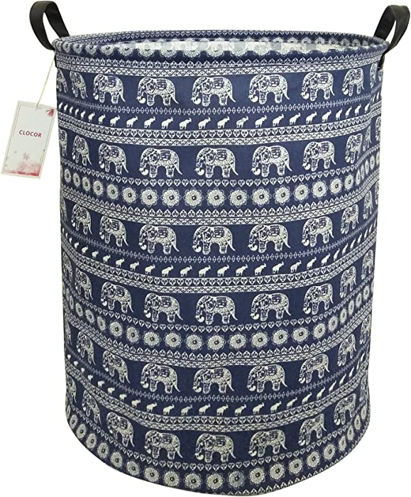 The Best Grey Canvas Elephant Laundry Hamper