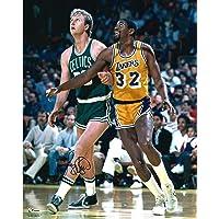 "$179 » Larry Bird Boston Celtics Autographed 16"" x 20"" Rebound vs. Magic Johnson Photograph - Fanatics Authentic Certified"