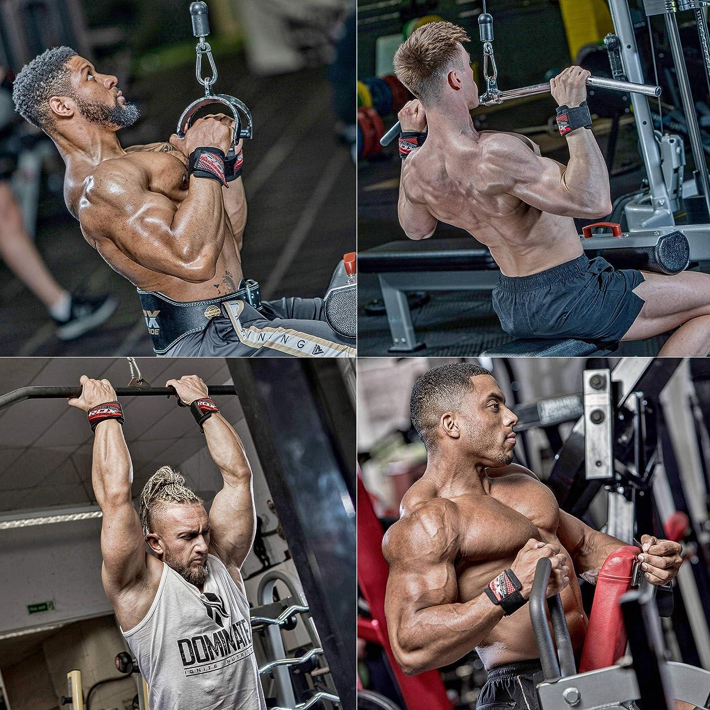"1 Paar Zughilfe Zughilfen Fitness Lifting Straps Nylon 9/"" 11/"" für Bodybulding"
