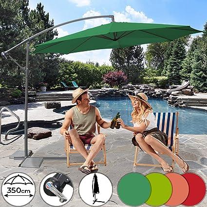 Ampelschirm Sonnenschirm Ø350cm Marktschirm Gartenschirm Balkon Garten Terrasse
