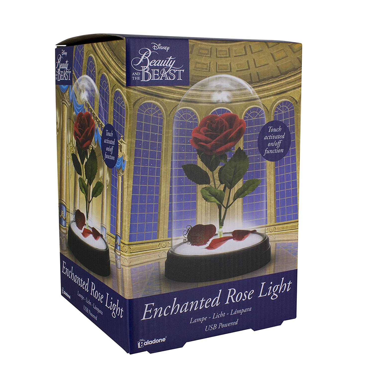Beauty and the Beast Enchanted Rose Light, Multi-Colour Paladone PP4344DP
