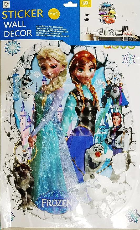 Kids Room Cartoon Princess Super Hero Boys And Girls Wall Sticker 32cm X 42cm Disney