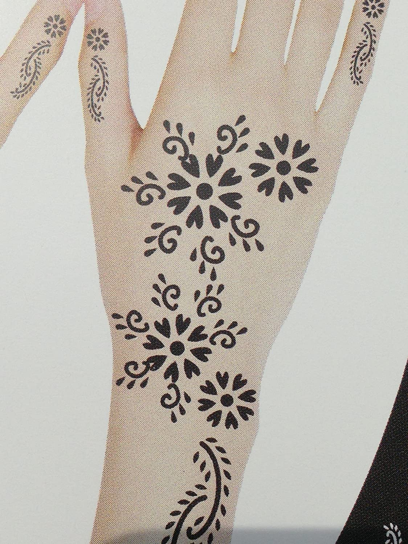 Tatuajes plantillas gran S318mehndi tatuaje plantilla AU henné–de uso único para el Corp–para tatuajes AU henné, tatuaje purpurina y aerógrafo tatuaje Beyond