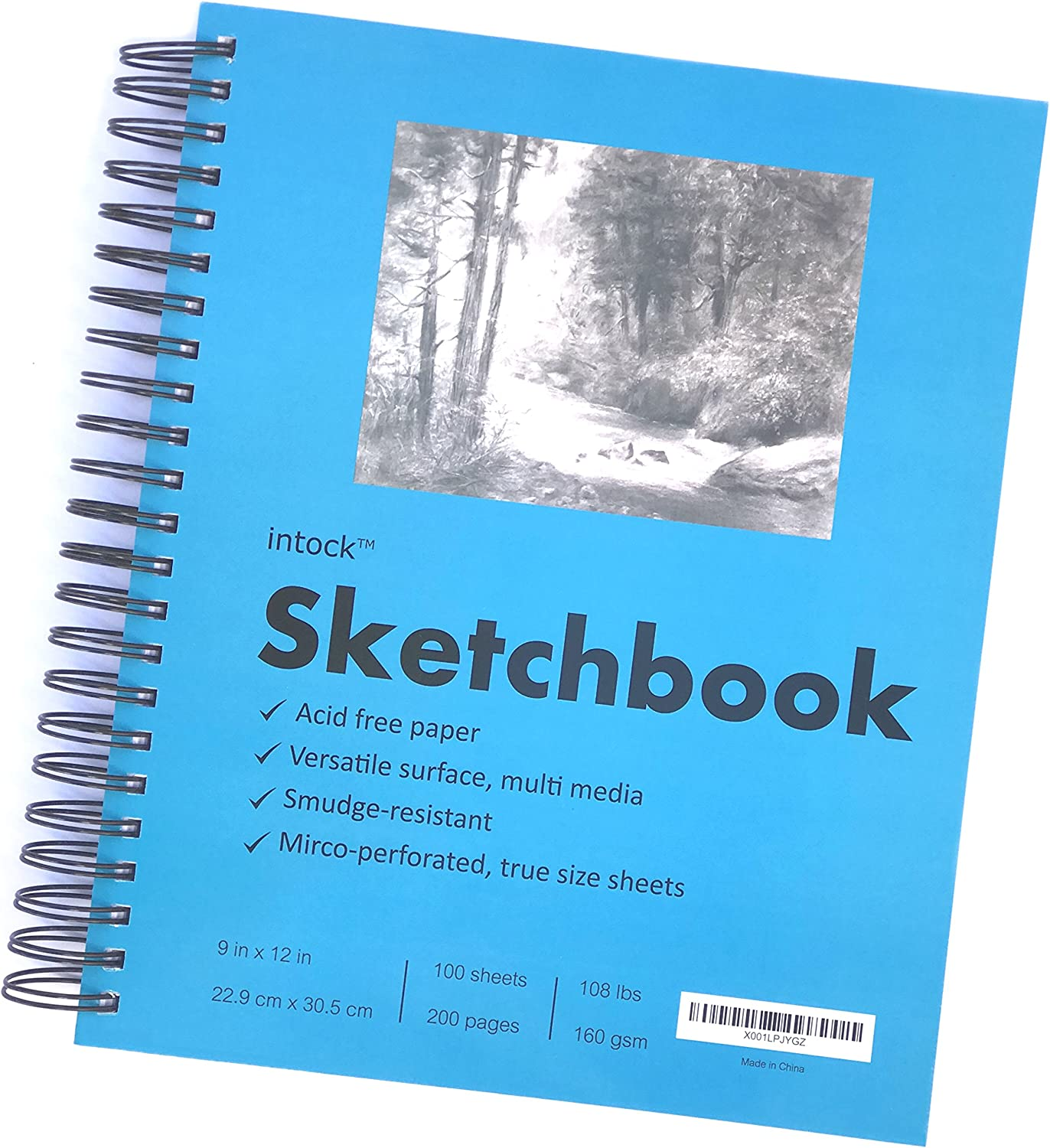 Ideal for Pen,Colored Pencil and Light Wash Watercolor Painting 117lb//190g Total 100 Sheets Acid-Free Paper 2Pack Sketchbooks with Spiral Bound LYTek Mixed Media Paper,Hardcover Sketchbook 9x12