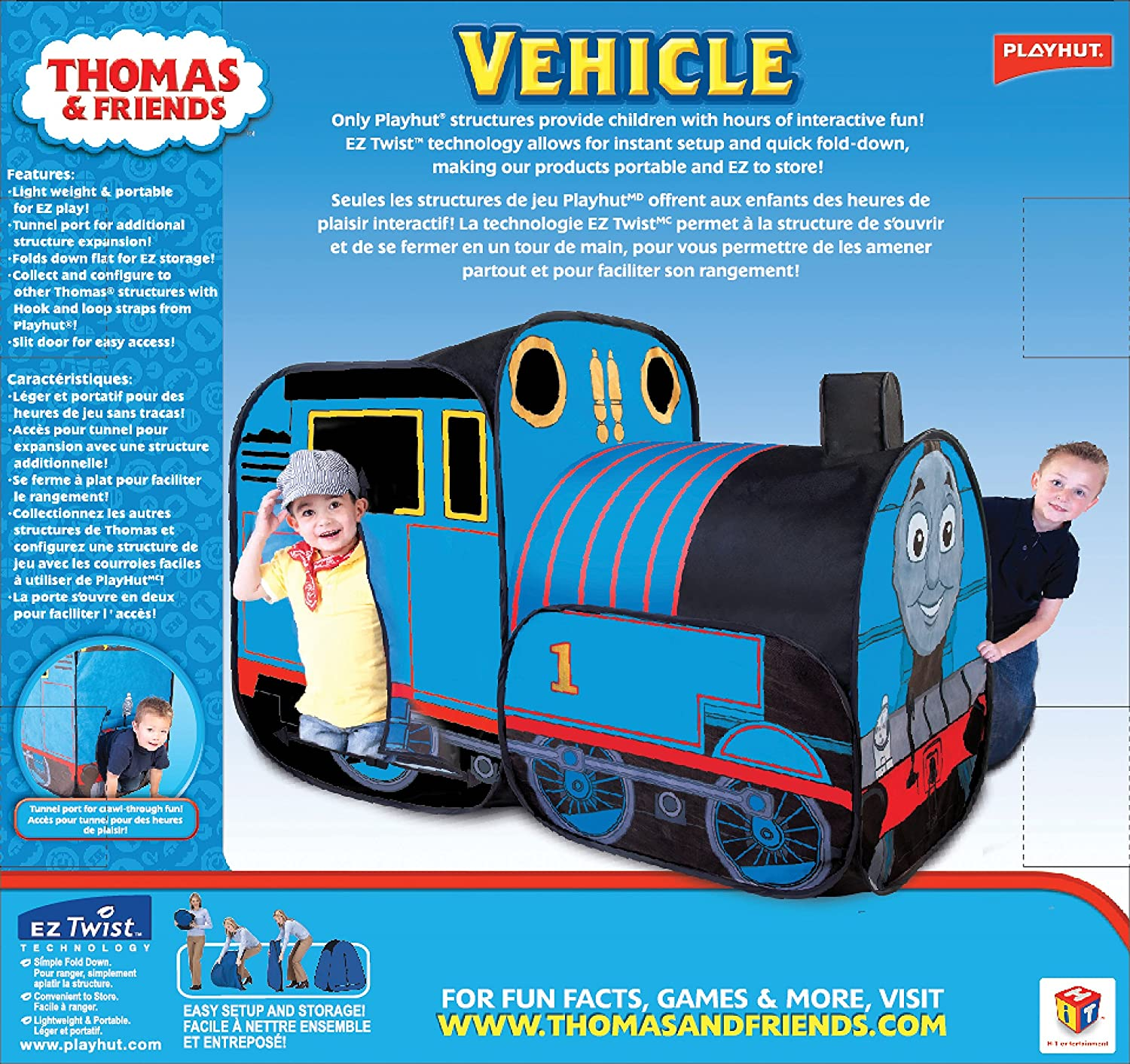 official photos a7870 11690 Playhut Thomas the Train Play Vehicle