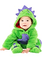 Funstuff Baby Boys' Plush Fleece Animal Costume Coverall With Footies