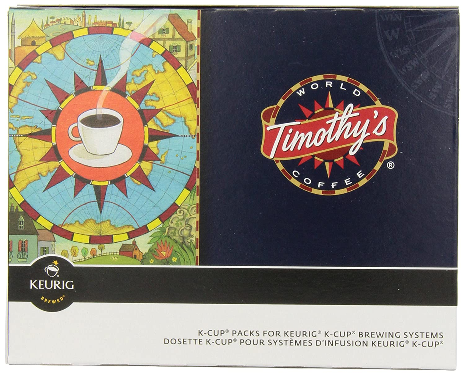 Timothy's World Coffee Nicaraguan Fair Trade Organic, Extra Bold K-Cup Portion Pack for Keurig Brewers 96-Count Timothy's World Coffee 74-01121