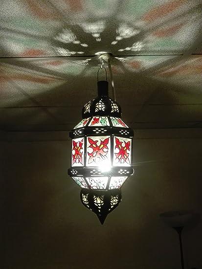Lámpara marroquí a techo Farol Lámpara aplique étnico chic ...